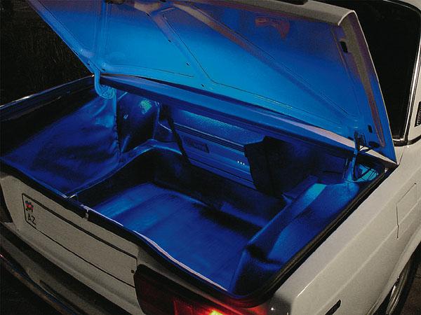 Ваз 2107 как сделать подсветку в багажнике