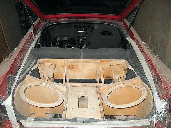 Как сделать из багажника сабвуфер 508