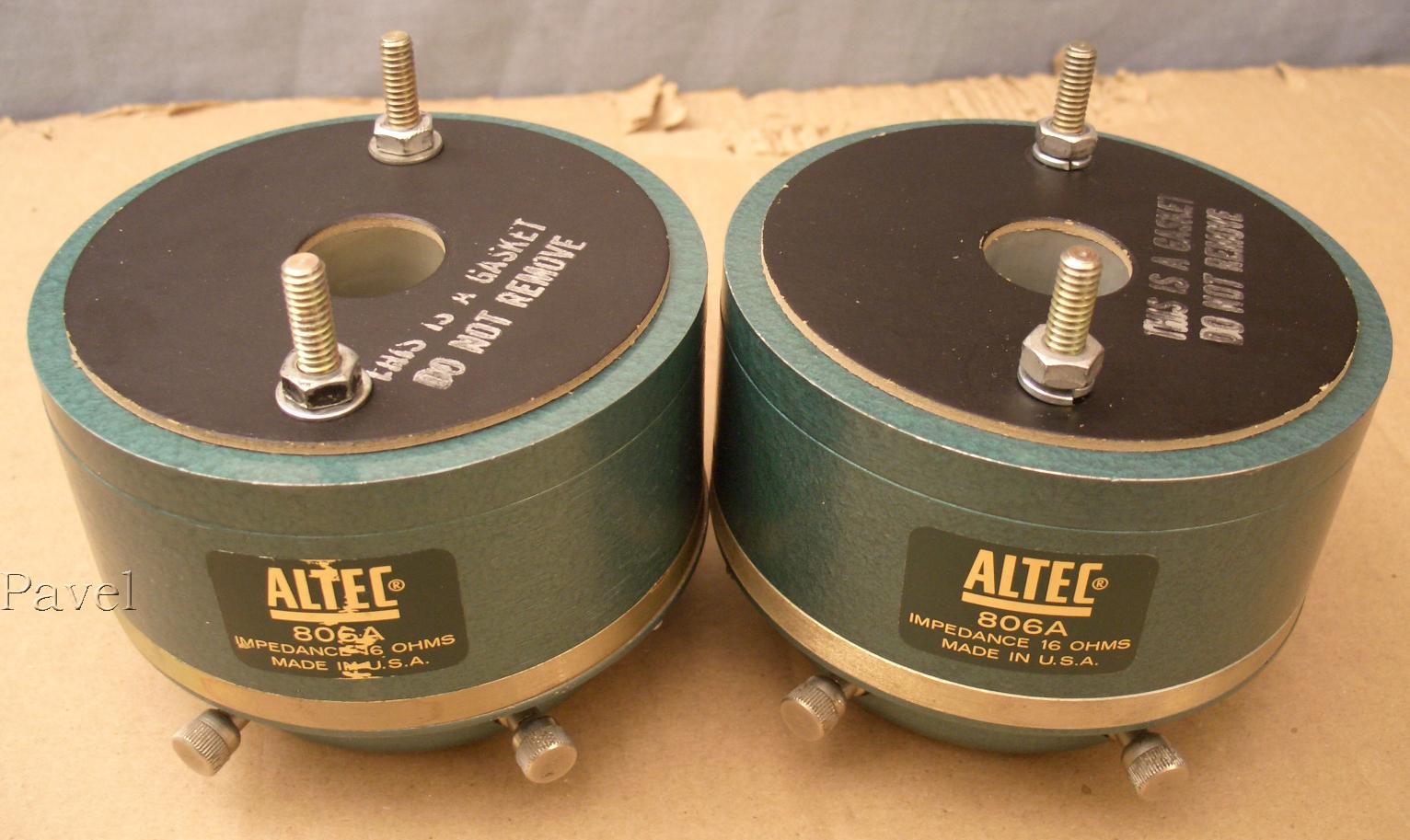 Altec 806 A Драйверы Динамики СЧ 1966 года выпуска | Hi-Fi ru