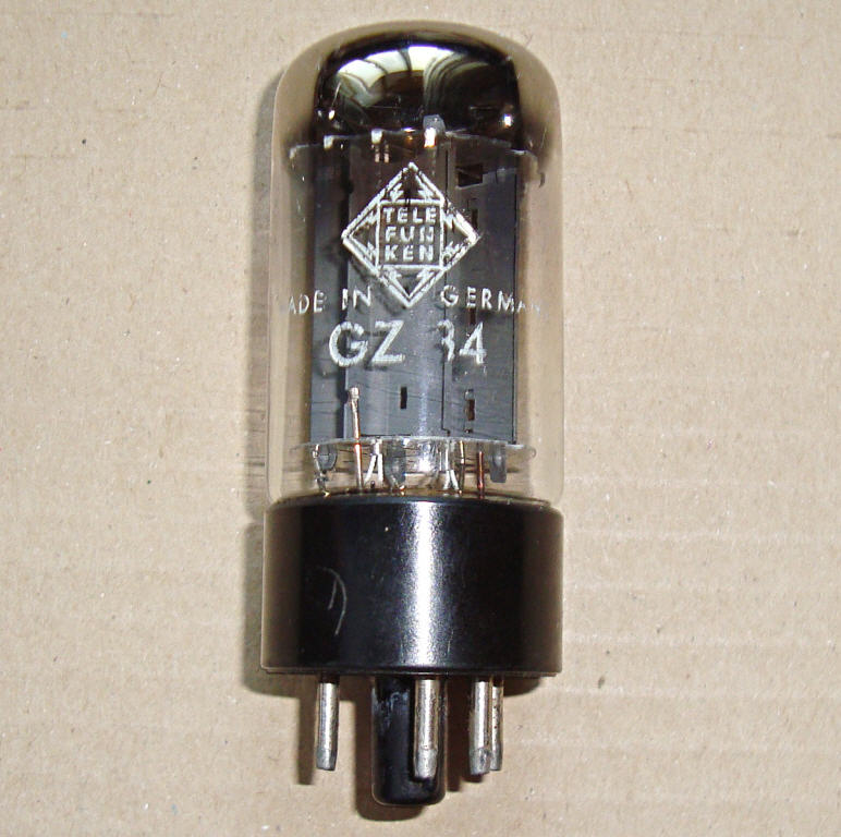 GZ34 TELEFUNKEN 5AR4 made in Germany 1967 год