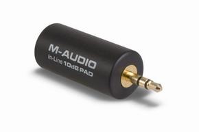 Переходник - микрофонный аттенюатор (сопротивление) - снижает чувствительность...