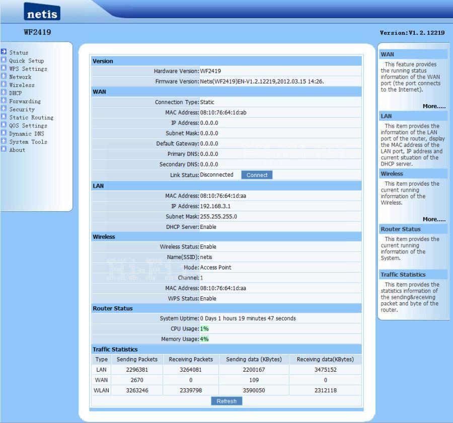 Беспроводной маршрутизатор NETIS WF-2419