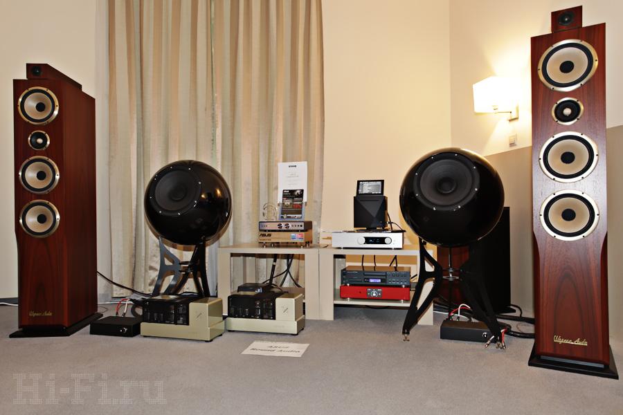 Акустические системы от Round Audio, ЦАП ASUS Essence III, ламповые усилители Quad II