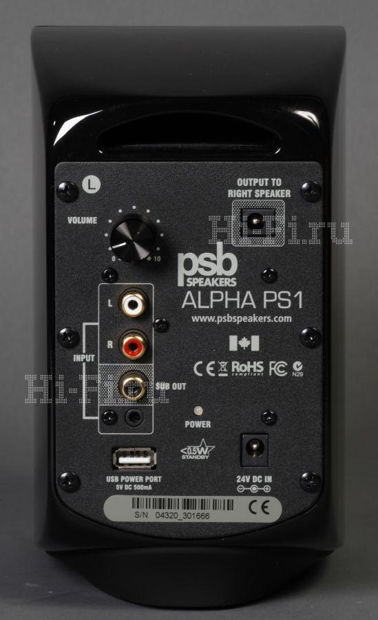 Активные акустические системы PSB Alpha PS 1 (Цена – 19 000 руб.) Активный сабвуфер PSB SubSeries 100 (Цена – 10 400 руб.)