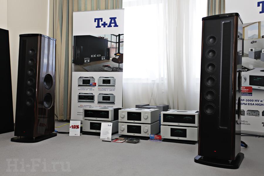 Система от T+A - АС Solitaire CWT2000, SACD/CD-плеер PDP 3000 HV, предусилитель P 3000 HV, два усилителя мощности A 3000 HV, блок питания PS 3000 HV