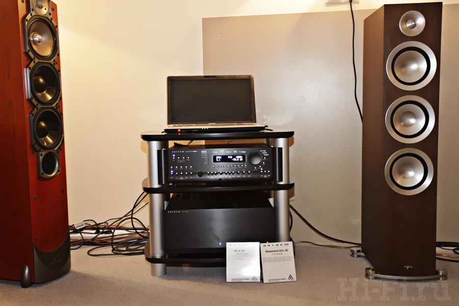 AV-процессор Anthem Statement D2v 3D, 5-канальный усилитель мощности Anthem MCA 50