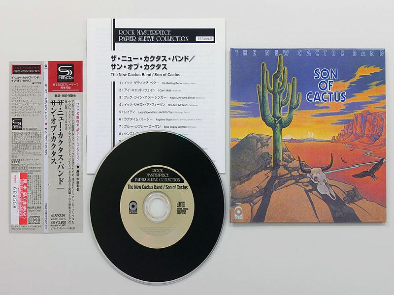 THE NEW CACTUS BAND - Son Of Cactus - 1973.(VICW-70010) – 2009 Mini-LP.JAPAN CD.