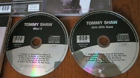 TOMMY SHAW (STYX) - Girls With Guns (1984) & What If (1985). BGOCD1109 -2013.