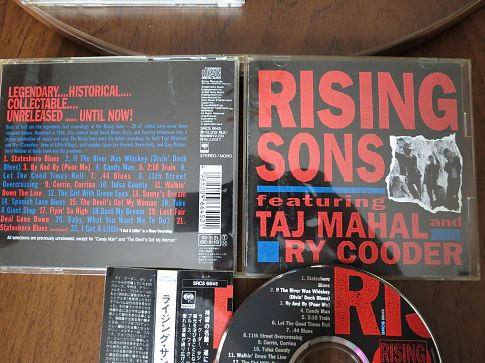 Rising Sons Featuring Taj Mahal And Ry Cooder - 1992.(SRCS-6645)- 1992. JAPAN CD. 1 press .
