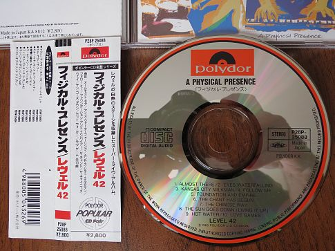 LEVEL 42 -  A Physical Presence - 1985.(P28P 25088) -1987.ФИРМЕННЫЙ JAPAN CD. 1 PRESS!