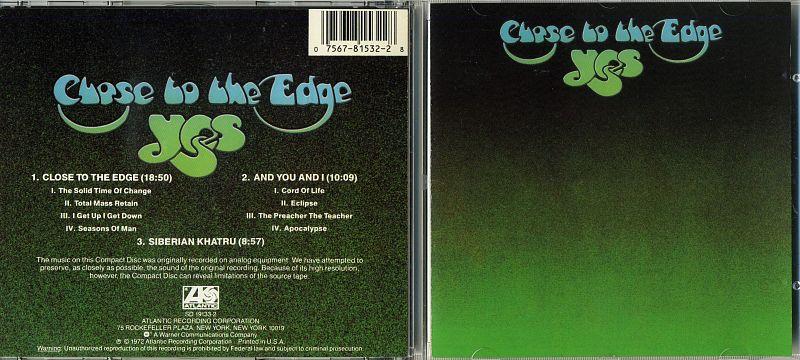 CD YES / CLOSE TO THE EDGE / 1972 / USA | Hi-Fi ru