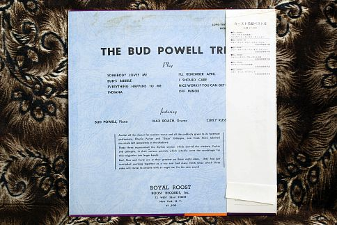 The Bud Powell Trio - LP джаз пластинки