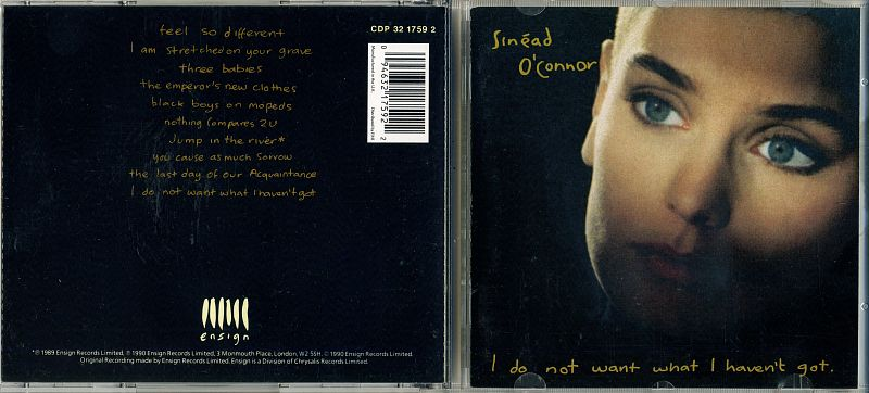 CD SINEAD O'CONNOR / I DO NOT WANT WHAT I HEAVENT GOT / 1990 / UK