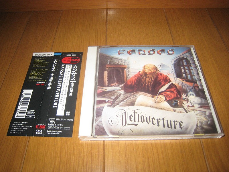 ФИРМЕННЫЙ CD.  KANSAS - LEFTOVERTURE. JAPAN CD(1пресс)