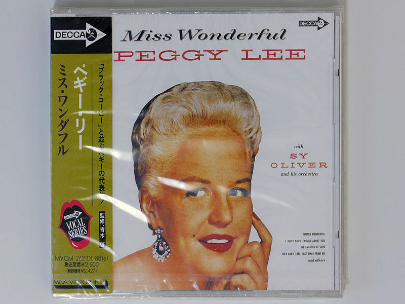 PEGGY LEE -   MISS WONDERFUL  - 1959(56).(MVCM-262) - 1992(ФИРМЕННЫЙ JAPAN CD)