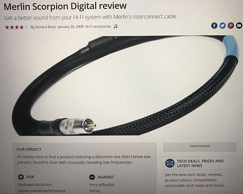 Цифровой кабель Merlin Cables Scorpion Digital SPDIF RCA
