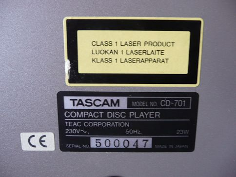 professional Tascam CD-701