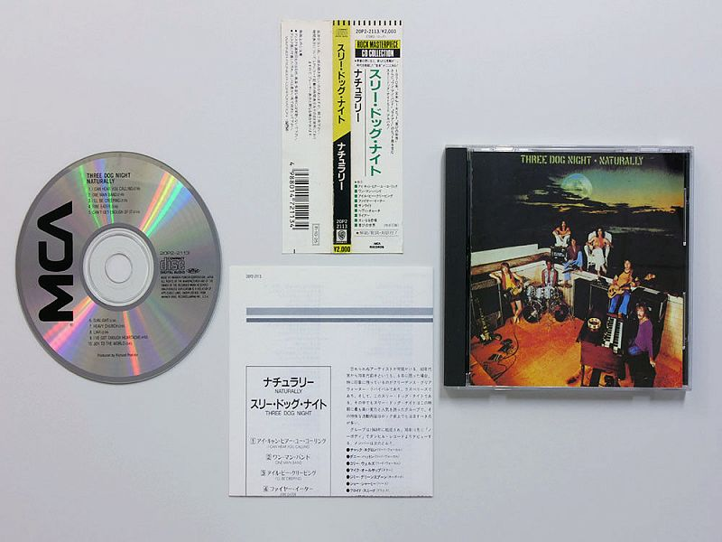 Three Dog Night – Naturally - 1970.(20P2-2113)-1988! ФИРМЕННЫЙ JAPAN CD