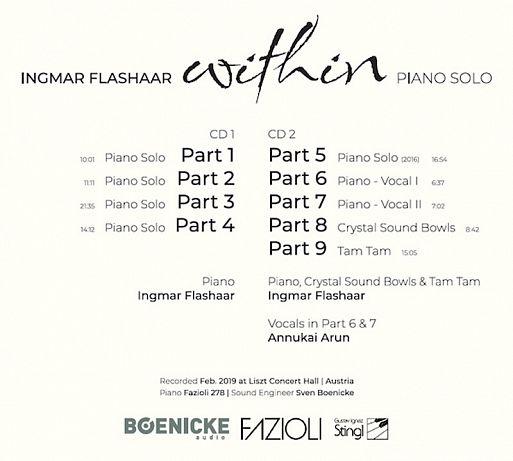 "Двойной компакт-диск Ingmar Flashaar ""Piano Solo"""