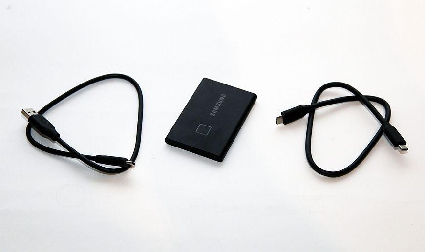 Портативный SSD-накопитель Samsung T7 Touch