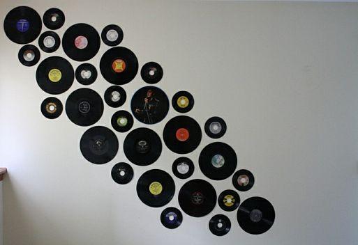 Предметы быта, сделанные из виниловых пластинок