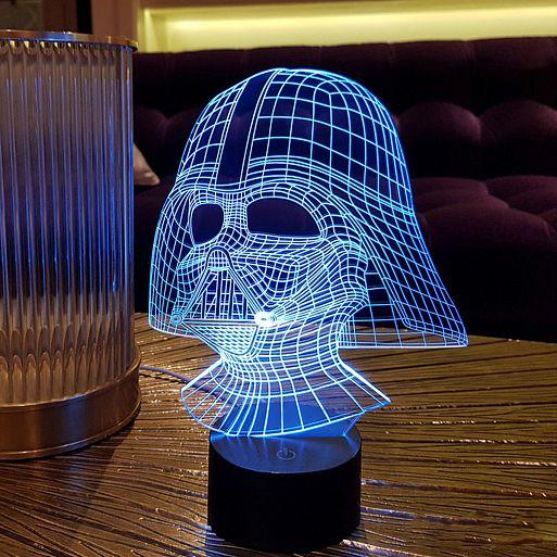 1. 3D-светильник Art-Lamps Дарт Вейдер 3D